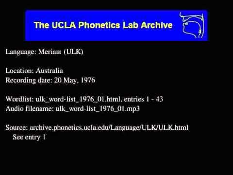 Meriam audio: ulk_word-list_1976_01
