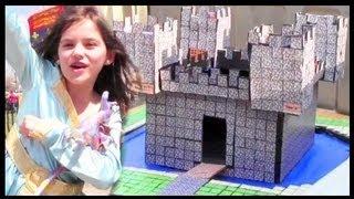 REAL LIFE MINECRAFT CASTLE!!! PAPERCRAFTING  |  KITTIESMAMA