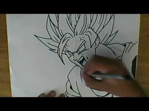 HOW TO DRAW GOKU SSJ2