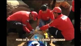 Pedra cai de encosta e mata trabalhador em Caratinga