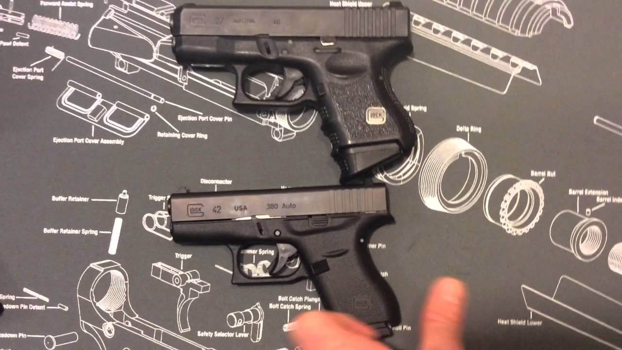 Glock 42 comparison between Ruger LCP, LCR and Diamondback ...
