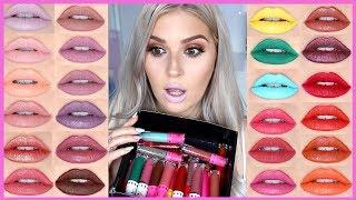 JEFFREE STAR LIP SWATCHES 😱💄 Velour Liquid Lipstick