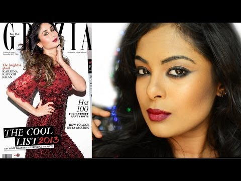 Kareena Kapoor inspired Holiday Makeup (Grazia cover december 2013)