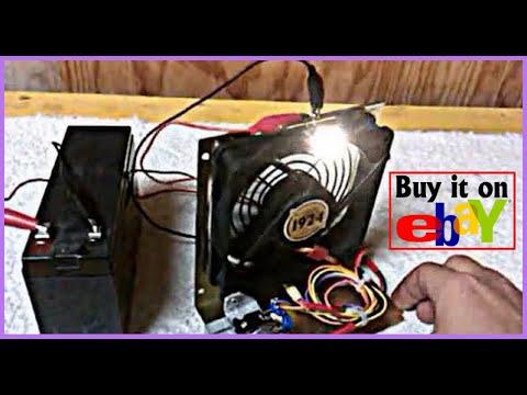 Bedini Motor 12v Dc Brushless Pc Fan With Mini Ac Led