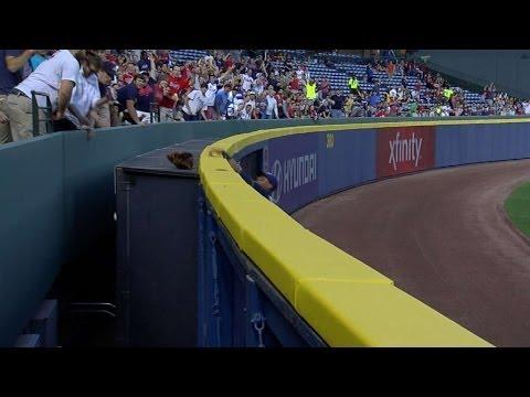 Wall Monster At Turner Field Steals Outfielder Khris Davis Glove