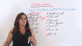 Phrasal Verbs and Two Word Verbs Lesson