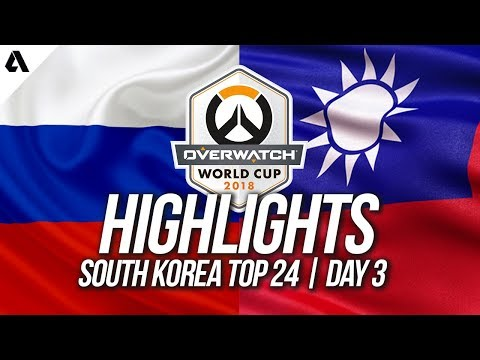 Russia Vs Taiwan   Overwatch World Cup 2018 Incheon Qualifier Day 3