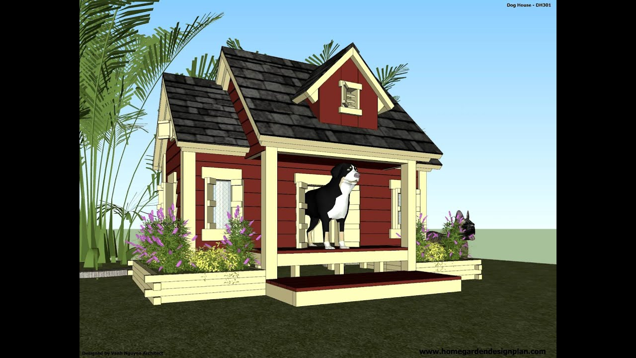 DH301 How To Build An Insulated Dog House Dog House Plans
