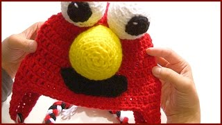 How To Crochet A ELMO Character Hat Tutotial Step By Step