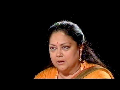 Seedhi Baat: Vasundhara Raje