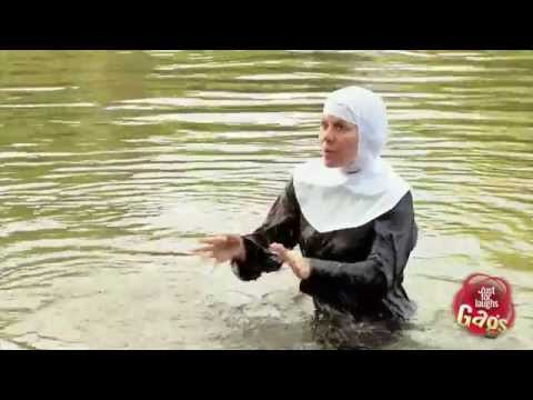 Nun Pushed Into Water