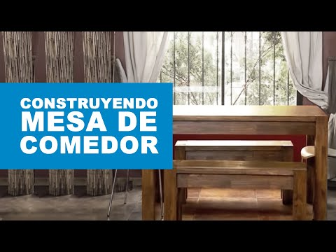 C mo construir una mesa de comedor youtube for Comedor redondo ampliable