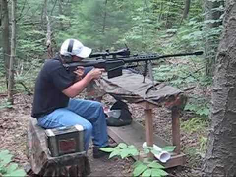Shooting a M82A1 .50 Barrett Sniper Rifle