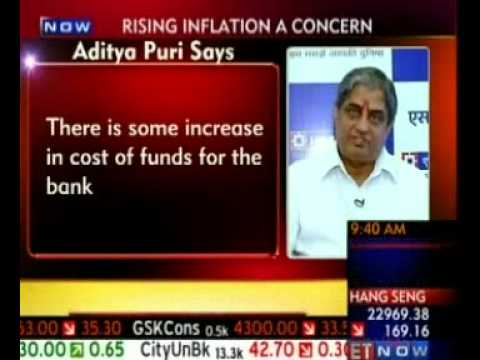 Mr Aditya Puri, MD, HDFC Bank - Interview on ET Now