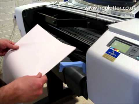 Designjet 510/510PS Series - Load paper/media sheet on your printer