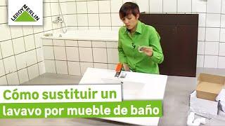 Sustituir un lavabo por un mueble de baño