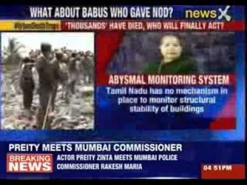 Jaya blames builders not babus in Chennai building collapse