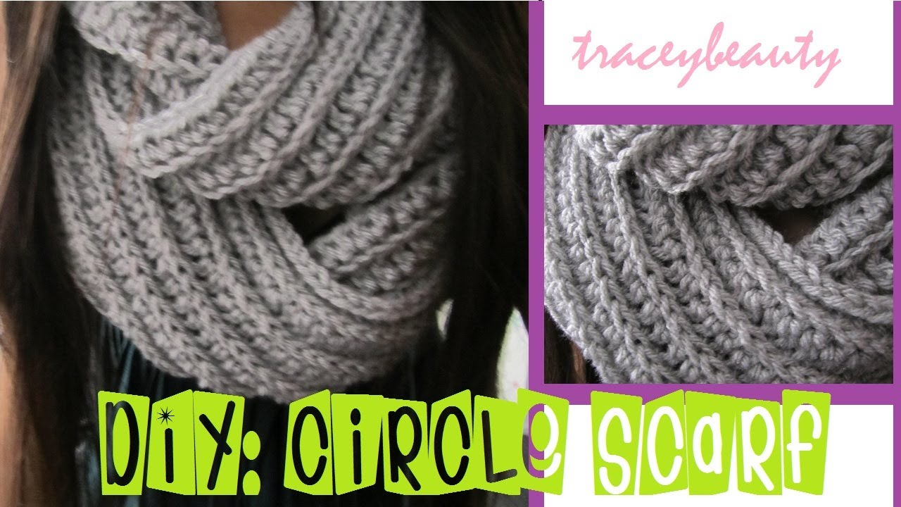 Knitting A Scarf Tutorial : Diy knit like circle scarf crochet tutorial youtube