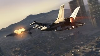 Let's Play GTA 5 How To Steal A Fighter Jet