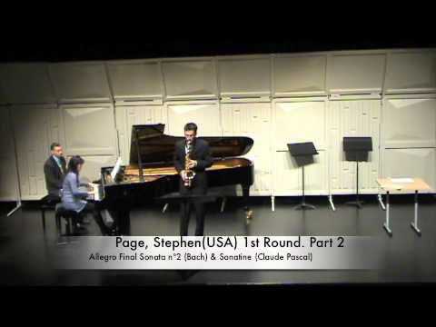 Page, Stephen(USA) 1st Round. Part 2