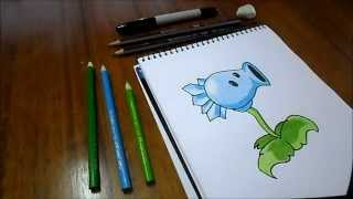 Dibujando Planta Hielaguisantes / Plantas Vs Zombies