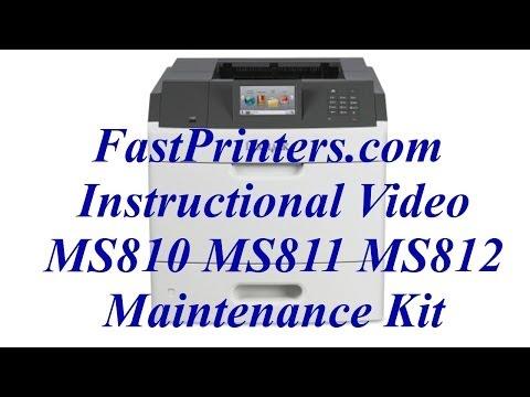 lexmark t650 maintenance kit instructions