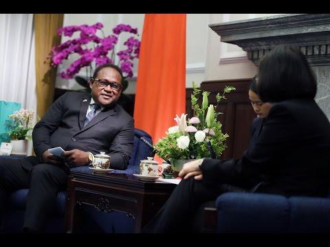 President Tsai meets Solomon Islands Deputy Prime Minister Manasseh Maelanga