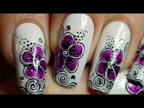Tuto Nail Art Dune Fleur Fuchsia Et Tourbillons Fuchsia Flower