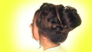 ★SCHOOL HAIRSTYLES MESSY Crown BRAID Bun Hairstyle