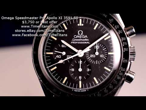 Omega Speedmaster Professional Apollo XI 3591.50 Cal 861 Full Set 42MM Manual Winding