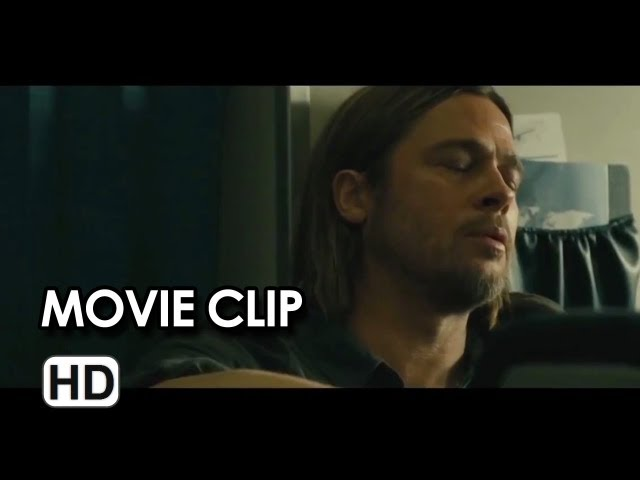World War Z Movie CLIP - Airplane Attack (2013) - Brad Pitt Movie HD