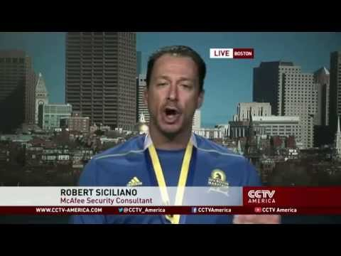 China TV Boston Marathon Security Interview with Robert Siciliano @McAfeeConsumer