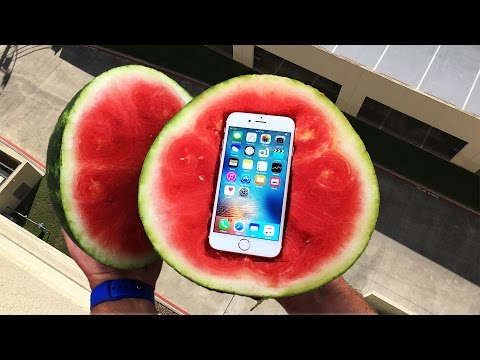 Can a Watermelon Protect iPhone 6s from 100 FT Drop Test? - GizmoSlip