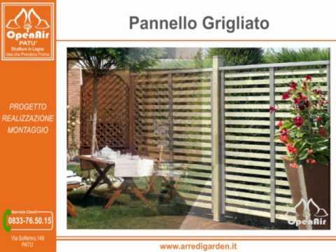 Arredi garden pat pannelli griglie frangivento arredo for Arredo giardino lecce