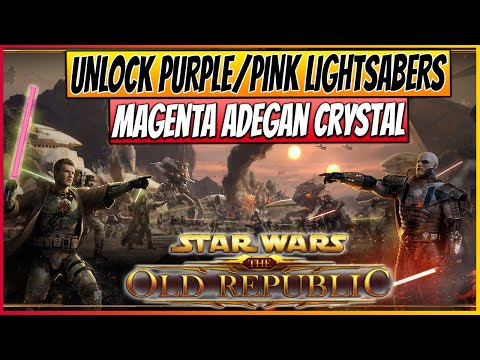★SWTOR - Unique Purple / Pink Lightsaber Crystal - Magenta Adegan Crystal - Tips & Tricks 17