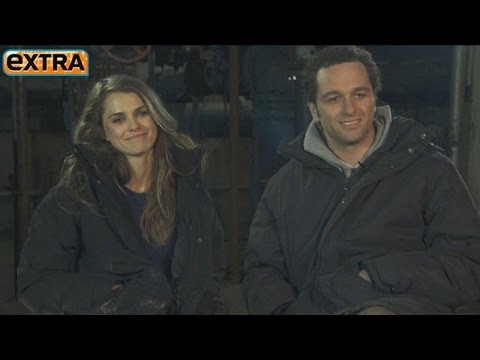 Keri Russell and Matthew Rhys on the Set of 'The Americans'