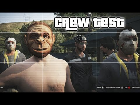 GTA 5 ONLINE - CREW TEST - (GTA V ONLINE FUNNY MOMENTS #1),