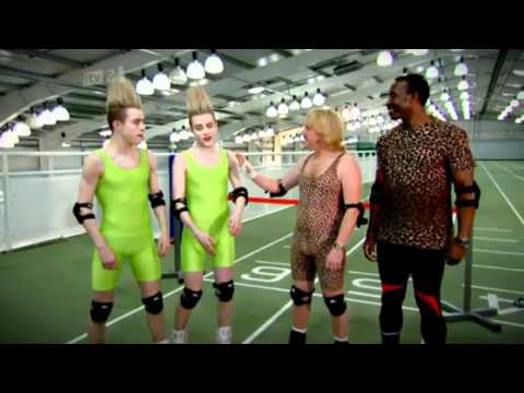 Jedward Back To Back Racing Challenge Celebrity Juice 22.03.12