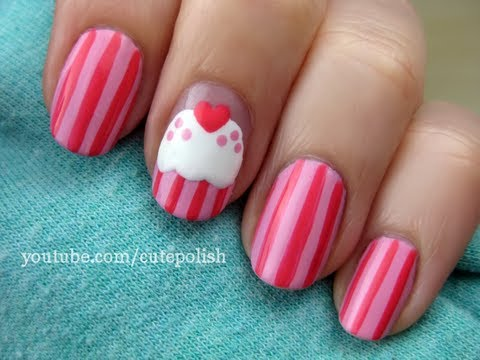 Country and western nail art nail art designs video cute cupcake nail art prinsesfo Choice Image