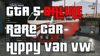 GTA 5 Online Rare Car Brand New VW Van Hippy Car