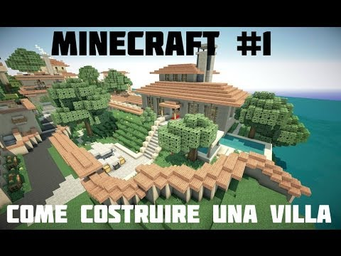Tutorial minecraft 1 come costruire una villa for Piano di piscina