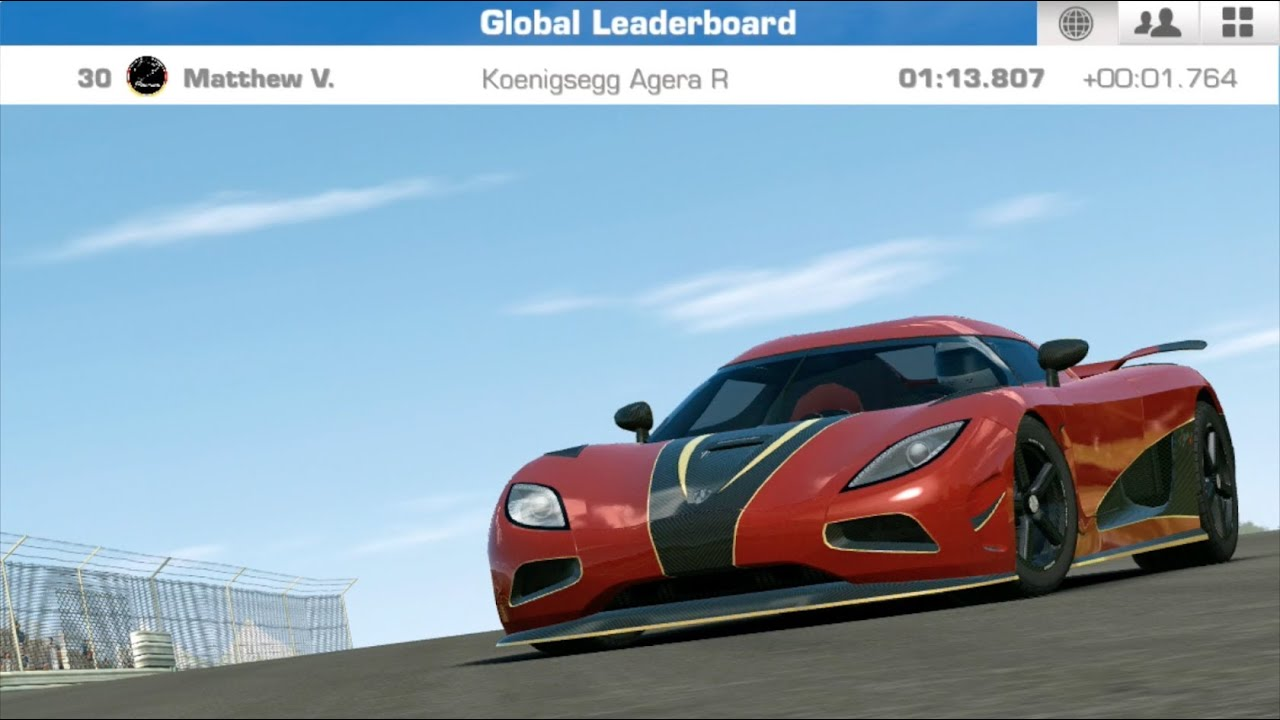 real racing 3 koenigsegg agera r hockenheimring grand prix circuit time trials 1 hd. Black Bedroom Furniture Sets. Home Design Ideas