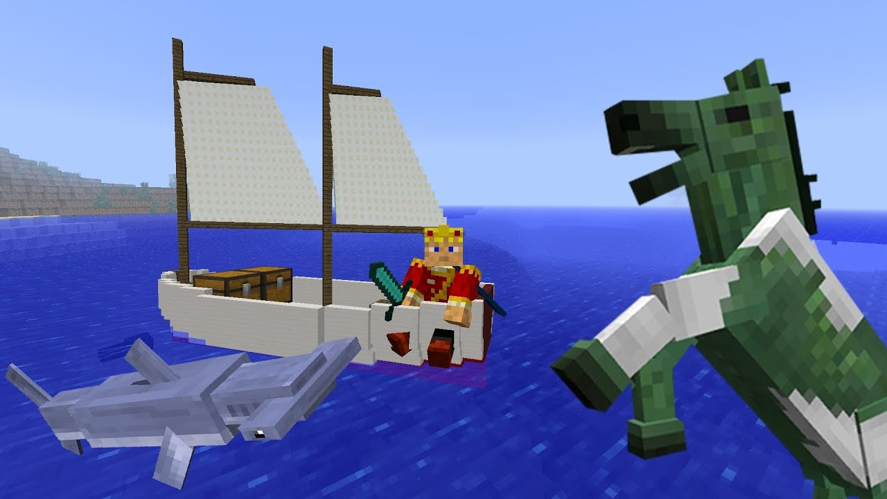 MineCraft 1.6 Snapshot 13w17a Sail Boats, Fishing, Undead ...