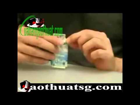 Học ảo thuật cùng j các bài tập cơ bản xé giấy biến thành tiền - Phần 10
