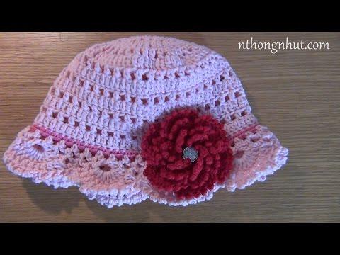 Cách móc nón len nữ