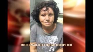 Por ci�me, mulher mata e queima corpo de ex-marido em Raposos