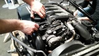 Осмотр контрактного двигателя BMW M57D30