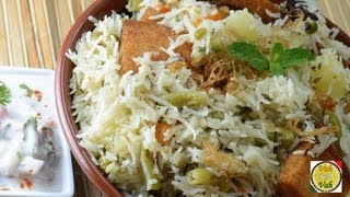 Mughlai Vegetable Pulao with Fried Bread ..