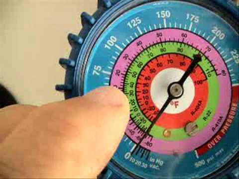 Hvac Manifold Gauges And P T Chart Youtube