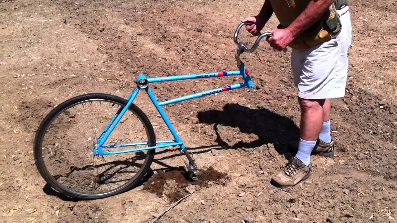 bicycle garden plow home made youtube